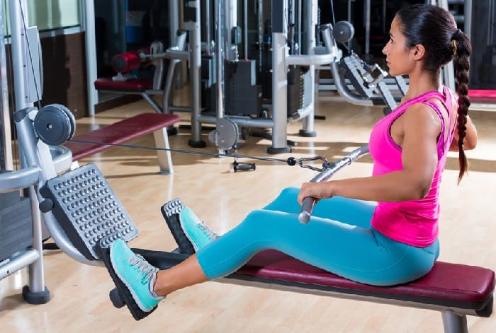 Workout Gym - Seated Low Row Exercises