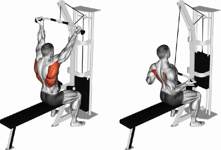 Superset Wide Grip Lat Pulldowns